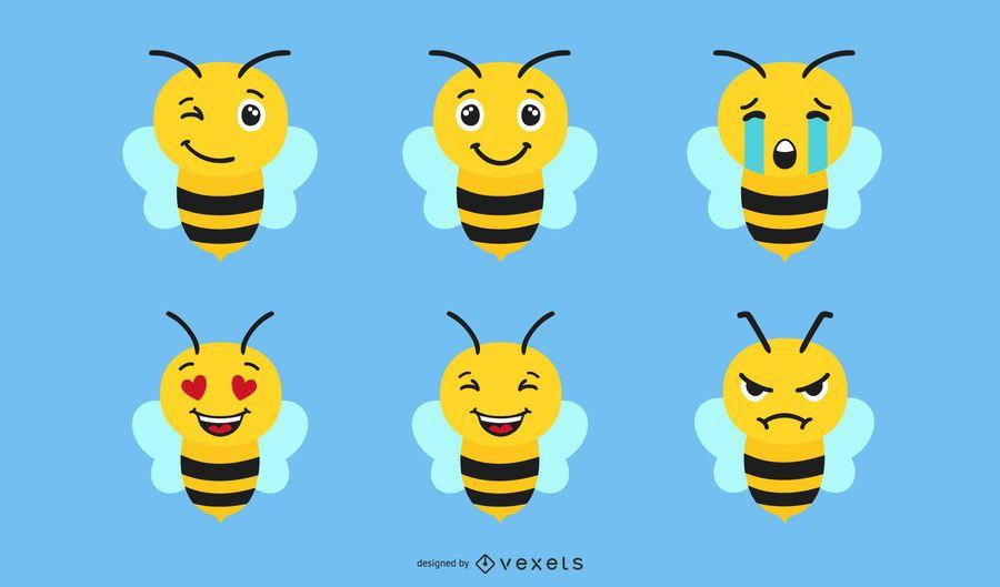 Conjunto De Emoji De Abelha
