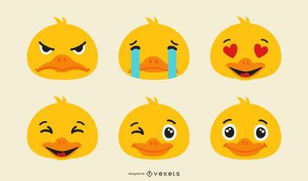 Conjunto de patinhos emoji