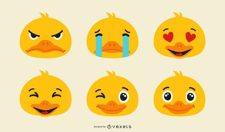 Duck Emoji Set
