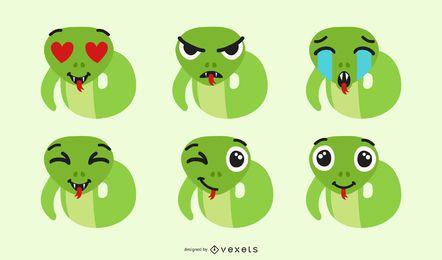 Schlange Emoji Set