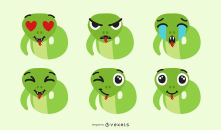 Set de Emojis de Serpiente
