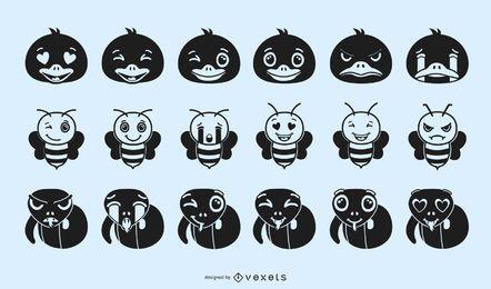 Tier-Emoji-Schattenbild-Design
