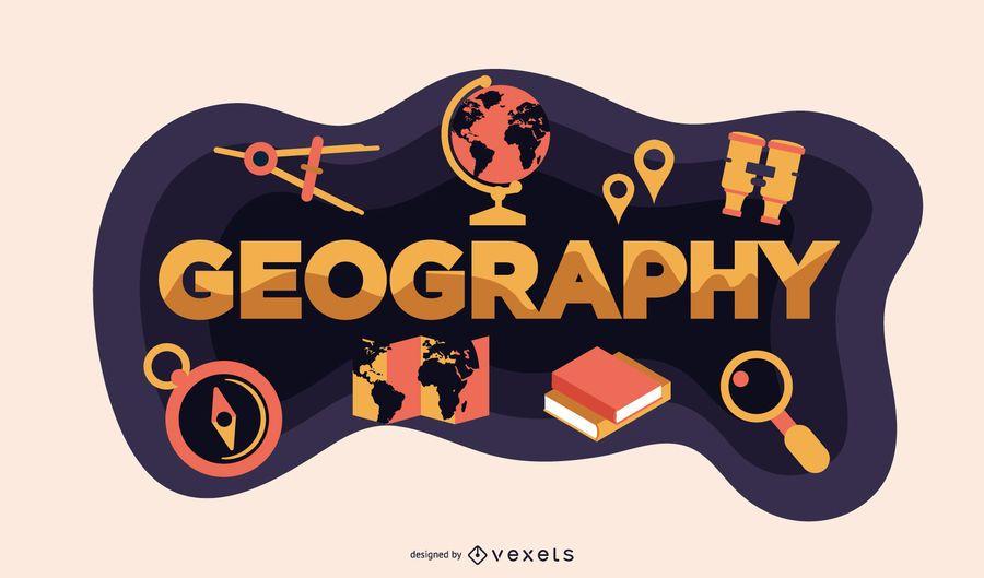 Geographie-Beschriftung