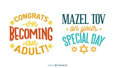 Bar mitzvah lettering set
