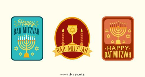 BAR MITZVAH Lettering Design Set