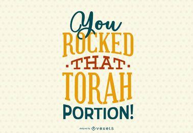 Torah Lettering Design