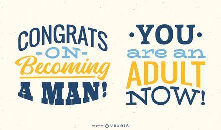 Você é um adulto agora Lettering Design