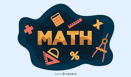 Design de vetor de elementos de matemática