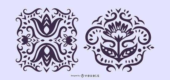 Floral Scandinavian Silhouette Illustrations