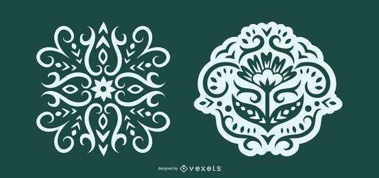 Intrincada Ilustração Folclórica Escandinava