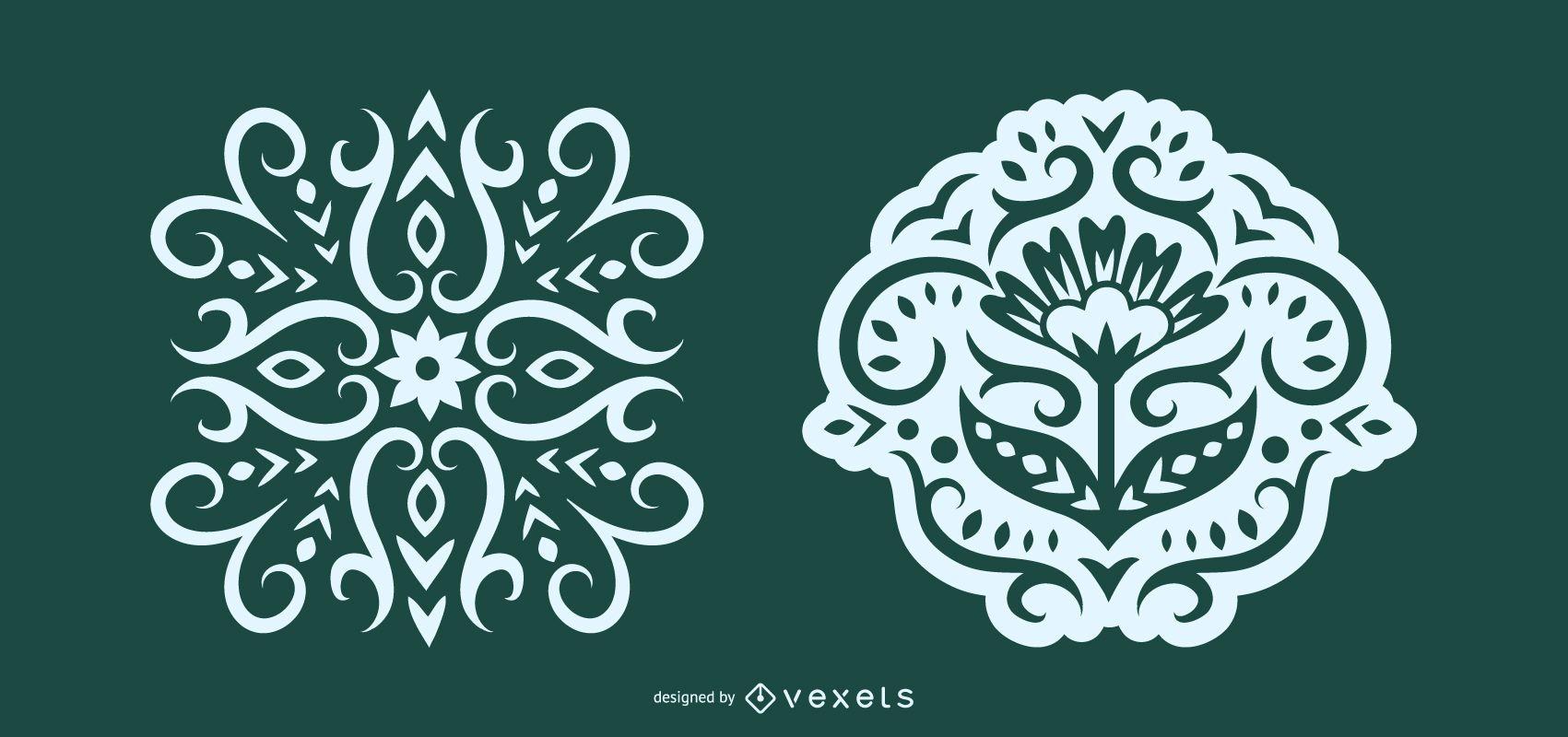 Intricate Scandinavian Folk Illustration
