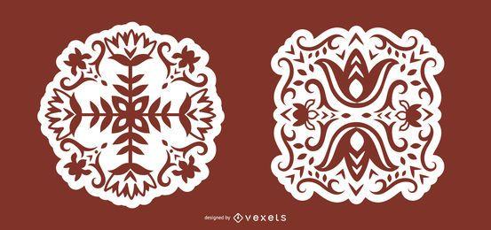 Arte folclórica floral escandinava