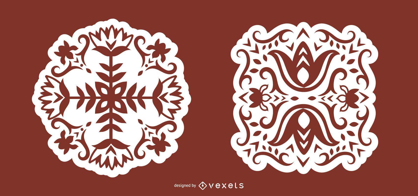Floral Scandinavian Folk Art