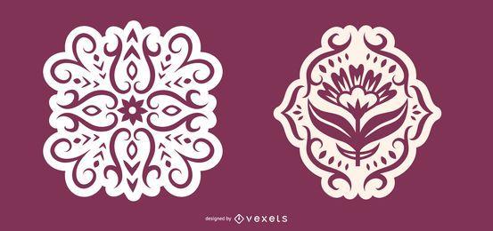 Ilustração de silhueta escandinava delicada