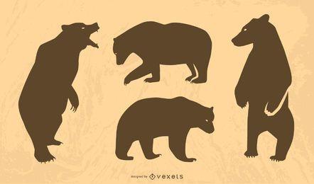 Großer Bär Sillhouette