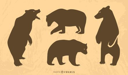 Silueta de oso grande