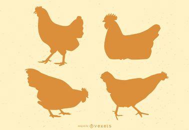 Hühnerschattenbildillustration