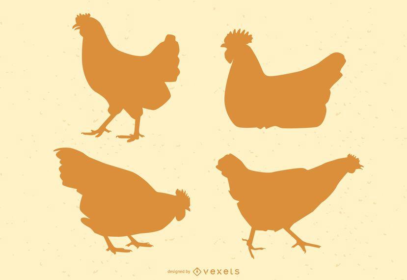 Chicken Silhouette Illustration