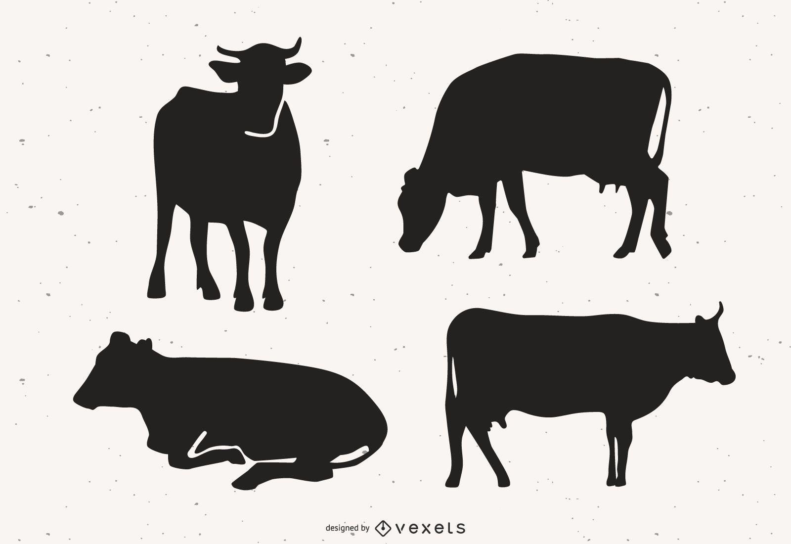 Cow Silhouette Vector Pack