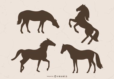 Brown Horse Silhouette Illustration