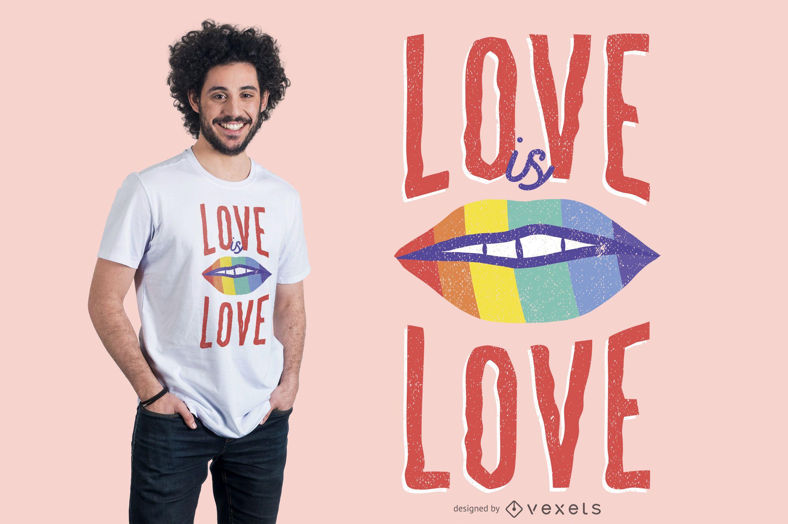 Diseño de camiseta Love is Love