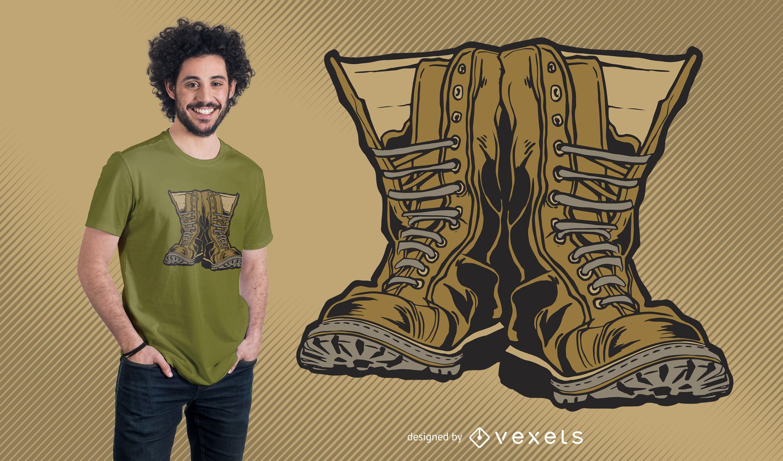 Military Boots T-shirt Design