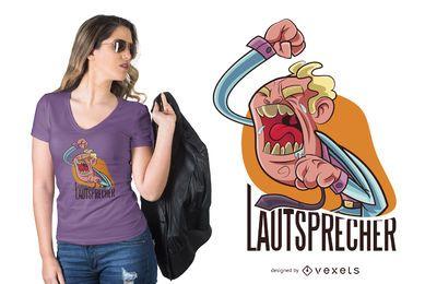 Diseño de camiseta de personaje alemán