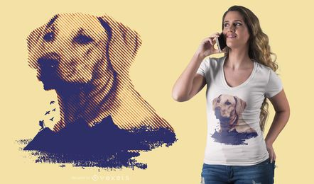 Projeto do t-shirt do golden retriever