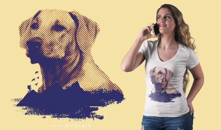 Diseño de camiseta Golden Retriever
