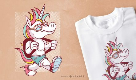 Einhorn Schule T-shirt Design