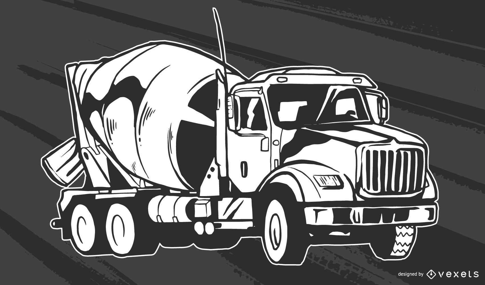 Concrete Truck Vector Design