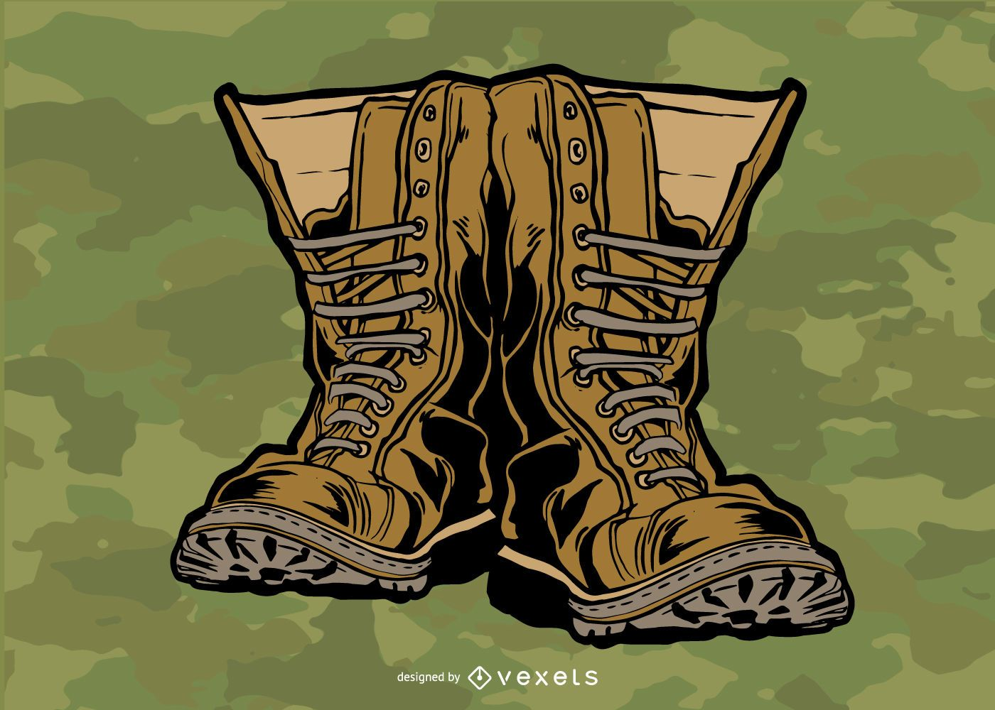 Military Boots Vector Design