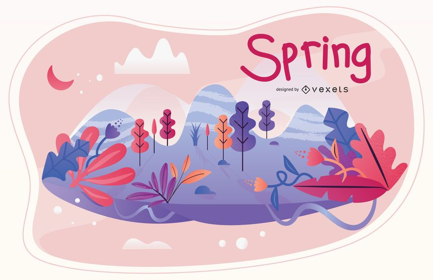 Spring season illustration