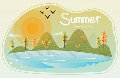 Ilustração da temporada de verão