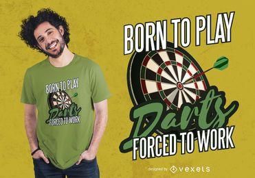 Nascido para jogar dardos Design de t-shirt