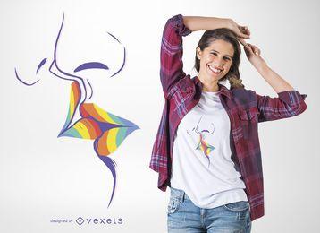 Regenbogenkuss-T-Shirt Entwurf