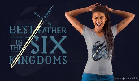 Best father sword t-shirt design