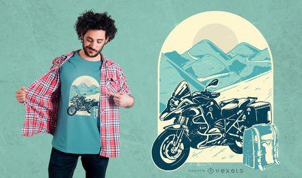 Motorrad Abenteuer T-Shirt Design