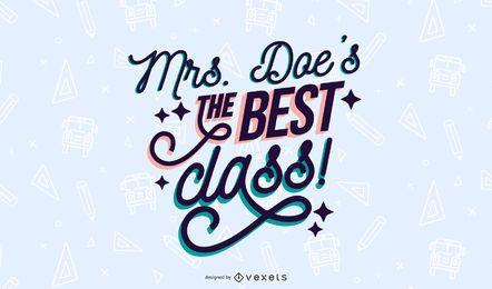 O melhor design de letras de classe