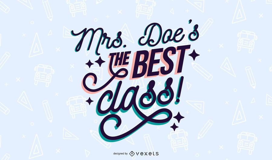 The best class lettering design