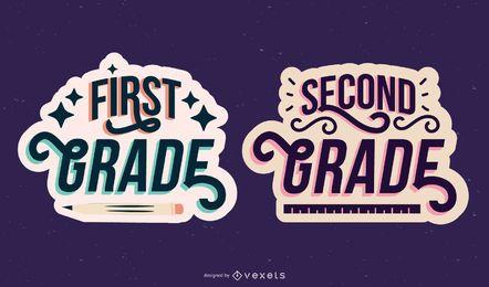 Conjunto de letras do primeiro segundo grau