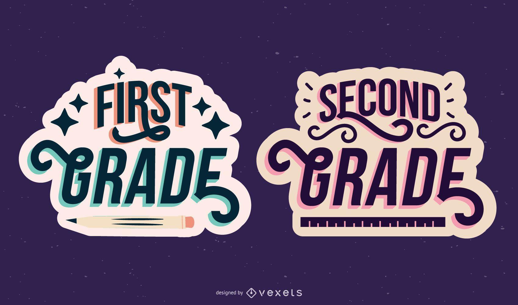 Conjunto de letras de primer segundo grado