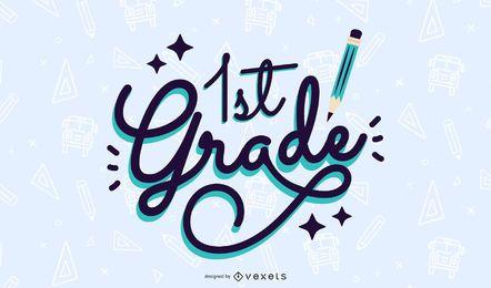 Design de letras de primeiro grau