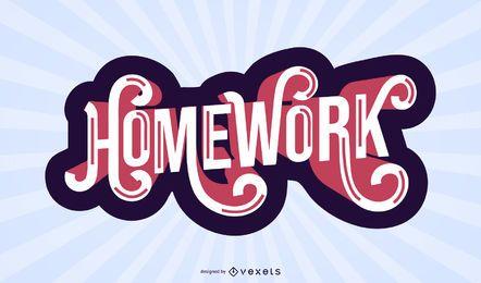 Projeto de letras de lição de casa