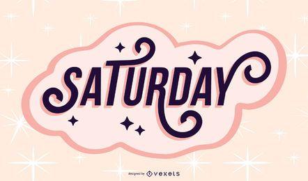 Desenho de letras de sábado