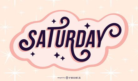 Saturday lettering design