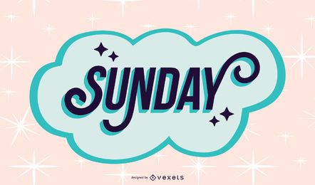 Sunday lettering design