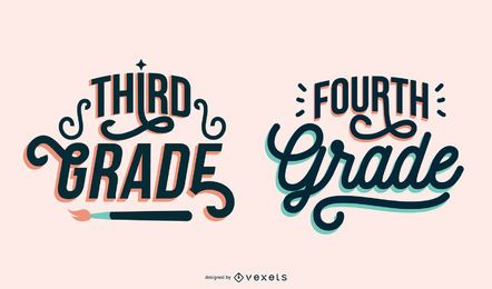 Third fourth grade lettering set