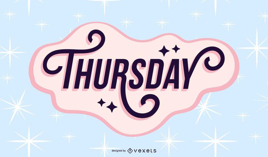 Thursday lettering design