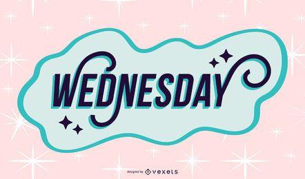 Diseño de letras de miércoles